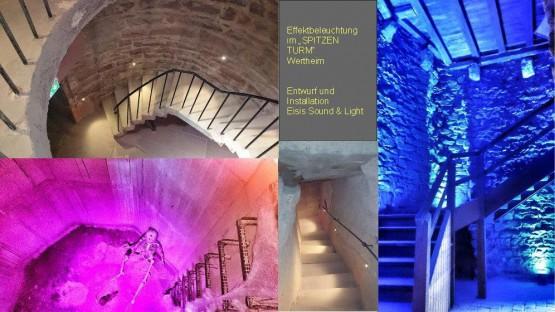 Illumination Spitzer Turm Wertheim